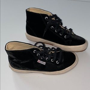 Superga velvet high top sneakers